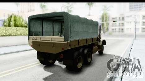 AM General M35A2 Sand для GTA San Andreas вид сзади слева
