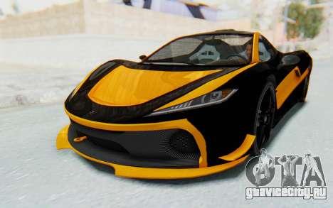 GTA 5 Progen T20 Devil PJ для GTA San Andreas двигатель