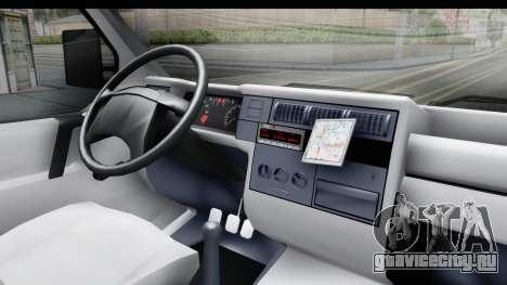 Volkswagen T4 для GTA San Andreas вид изнутри