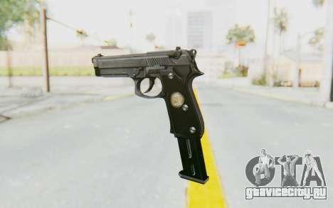 Tariq Iraqi Pistol Back v1 Silver Long Ammo для GTA San Andreas второй скриншот