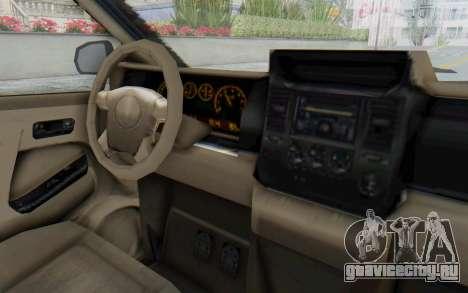 GTA 5 Vapid Minivan Custom without Hydro для GTA San Andreas вид изнутри