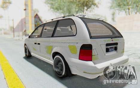GTA 5 Vapid Minivan Custom для GTA San Andreas салон