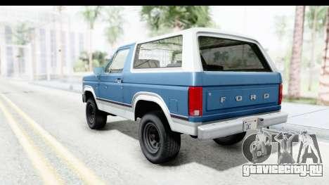 Ford Bronco 1980 Roof для GTA San Andreas вид слева