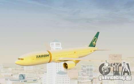 Boeing 777-200 TAROM Romania для GTA San Andreas вид сзади слева