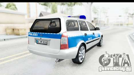 Opel Astra G Variant Polizei Hessen для GTA San Andreas вид сзади слева