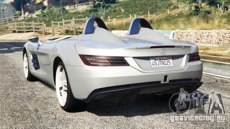 Mercedes-Benz SLR McLaren 2009 для GTA 5 вид сзади слева