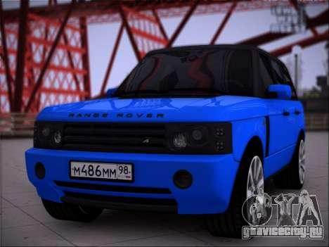 Range Rover Sport Понторезка для GTA San Andreas