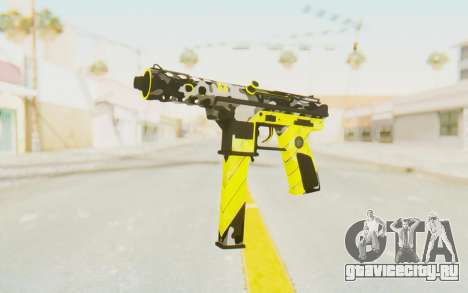 Tec-9 Neural Yellow для GTA San Andreas
