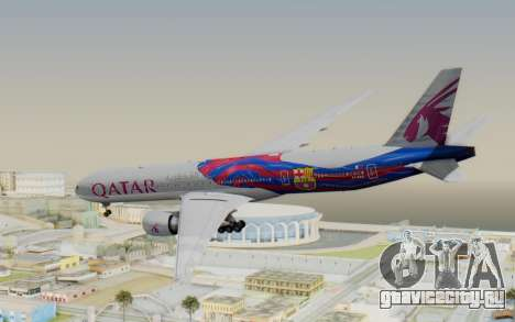 Boeing 777-300ER Qatar Airways v2 для GTA San Andreas вид слева