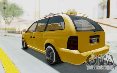 GTA 5 Vapid Minivan Custom IVF для GTA San Andreas вид слева
