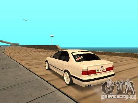 BMW E34 - EK edition для GTA San Andreas вид сзади слева