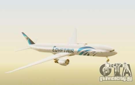 Boeing 777-300ER EgyptAir для GTA San Andreas вид сзади слева