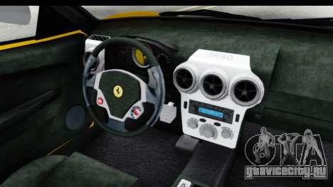 Ferrari F430 SVR для GTA San Andreas вид изнутри