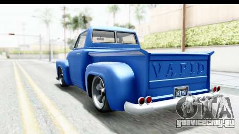 GTA 5 Vapid Slamvan without Hydro IVF для GTA San Andreas вид сзади слева
