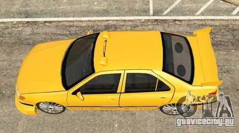 Taxi Peugeot 406 для GTA 5 вид сзади