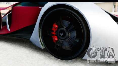 GTA 5 Grotti X80 Proto SA Lights для GTA San Andreas вид сзади