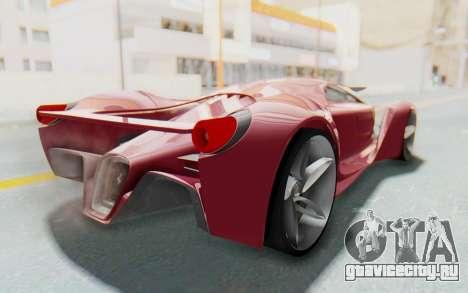 Ferrari F80 Concept для GTA San Andreas вид сзади слева