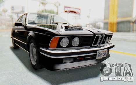 BMW M635 CSi (E24) 1984 IVF PJ3 для GTA San Andreas вид справа