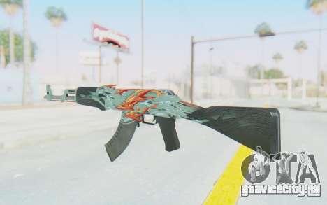 CS:GO - AK-47 Aquamarine Revenge для GTA San Andreas второй скриншот