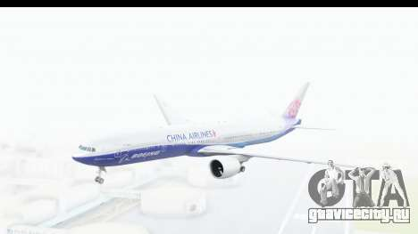 Boeing 777-300ER China Airlines Dreamliner для GTA San Andreas вид сзади слева