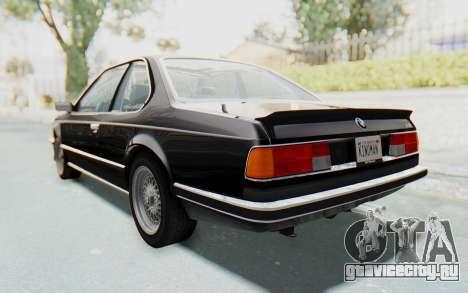 BMW M635 CSi (E24) 1984 IVF PJ3 для GTA San Andreas вид слева