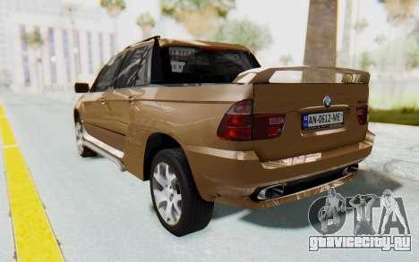 BMW X5 Pickup для GTA San Andreas вид слева