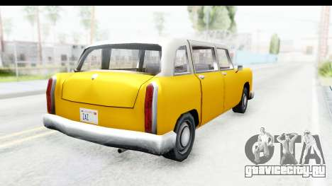 Cabbie London для GTA San Andreas вид слева