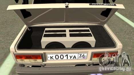 ВАЗ 2107 Дрифт для GTA San Andreas вид изнутри