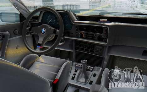 BMW M635 CSi (E24) 1984 IVF PJ3 для GTA San Andreas вид изнутри