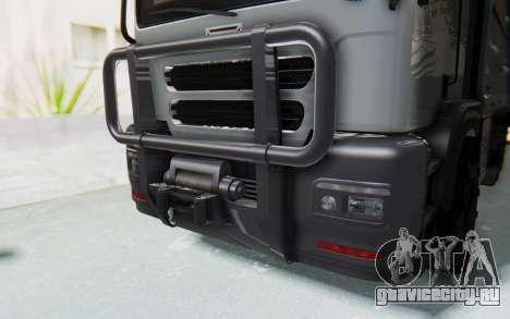 GTA 5 HVY Brickade IVF для GTA San Andreas вид изнутри