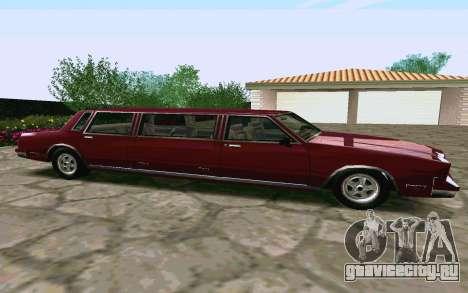 Tahoma Limousine v2.0 (HD) для GTA San Andreas вид слева