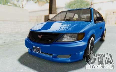 GTA 5 Vapid Minivan Custom для GTA San Andreas