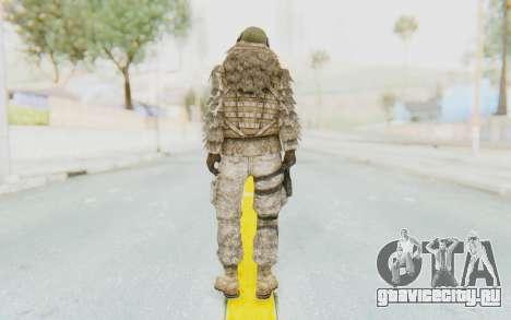 COD MW2 Ghost Sniper Desert Camo для GTA San Andreas третий скриншот