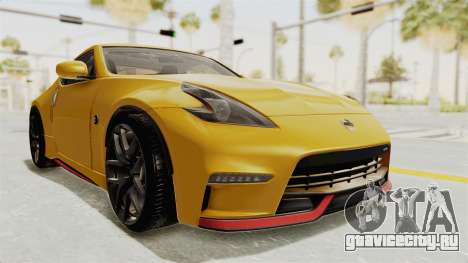 Nissan 370Z Nismo Z34 для GTA San Andreas вид справа