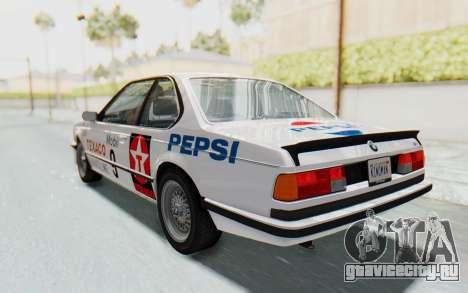BMW M635 CSi (E24) 1984 IVF PJ2 для GTA San Andreas двигатель