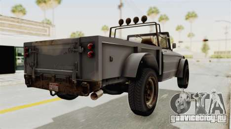GTA 5 Canis Bodhi Trevor IVF для GTA San Andreas вид слева
