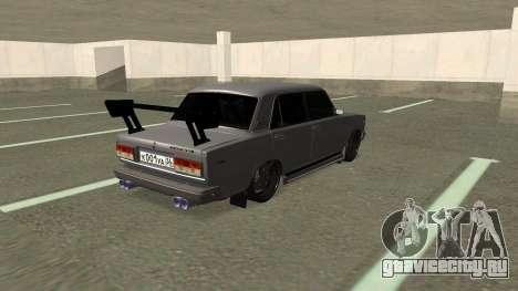 ВАЗ 2107 Дрифт для GTA San Andreas вид сзади слева