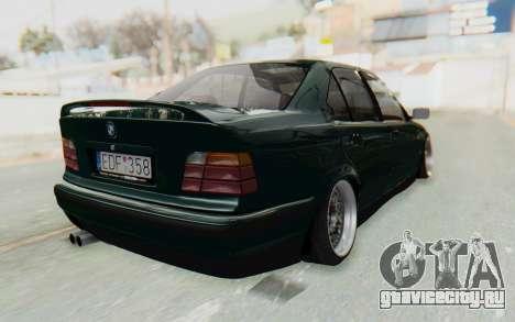 BMW 325tds E36 для GTA San Andreas вид сзади слева