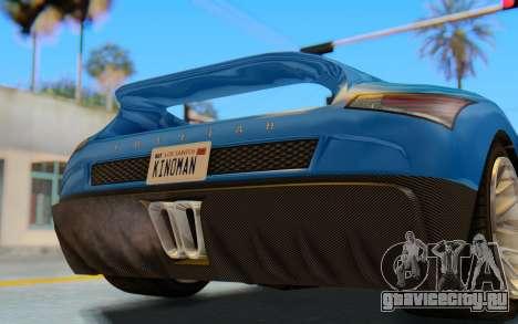 GTA 5 Grotti Cheetah SA Lights для GTA San Andreas вид изнутри