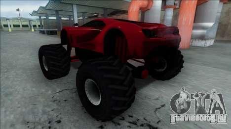 GTA V Vapid FMJ Monster Truck для GTA San Andreas вид сзади