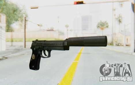 Tariq Iraqi Pistol Back v1 Black Silenced для GTA San Andreas