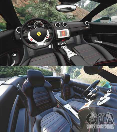 Ferrari California Autovista [add-on] для GTA 5 руль и приборная панель