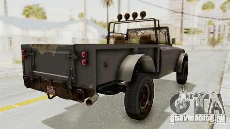 GTA 5 Canis Bodhi Trevor для GTA San Andreas вид сзади слева