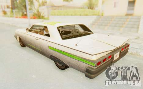 GTA 5 Declasse Voodoo PJ SA Lights для GTA San Andreas вид сверху