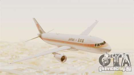 Airbus A320-200 Japanese Air Force One для GTA San Andreas вид сзади слева