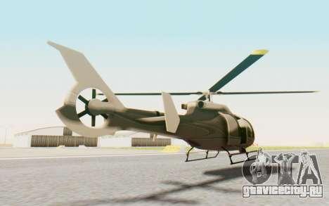 GTA 5 Maibatsu Frogger Civilian для GTA San Andreas вид сзади слева
