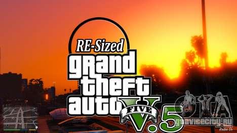 В GTA V будет изменять размер У5.5 ( стабильный  для GTA 5