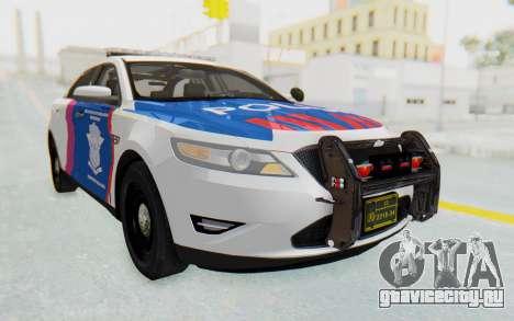 Ford Taurus Indonesian Traffic Police для GTA San Andreas вид сзади слева