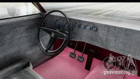 Dodge Charger Daytona F&F для GTA San Andreas вид изнутри
