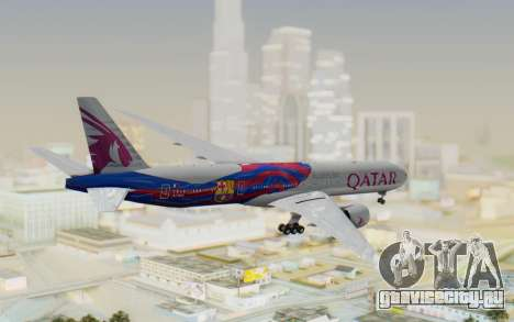 Boeing 777-300ER Qatar Airways v2 для GTA San Andreas вид справа